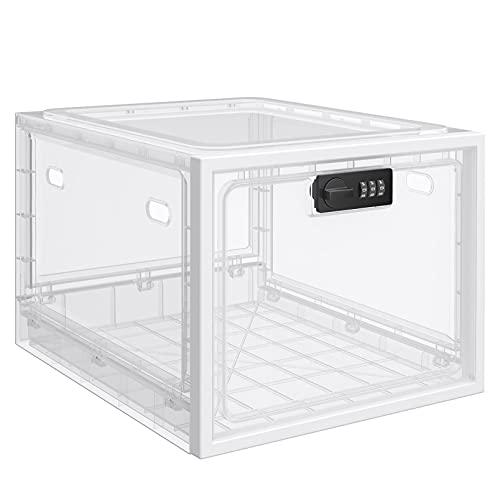 Abschließbare Box, Große Schließbox für Snack, Handy Gefängnis, Lebensmittel und Medikamente Sowie zum Sicheren Aufbewahren von Gegenständen zu Hause - Transparent