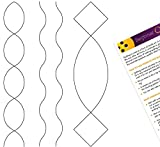 2 inch Simple Sashing, 0.75 inch Wavy Border, 1.25 inch Simple Cable Border; with laminated quilter's guide Border stencil useful for continuous pattern Beginner or professional, these stencils are great add to any quilter's long arm quilting supplie...