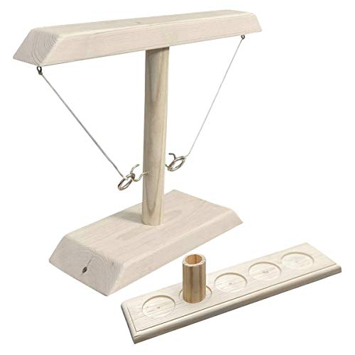 AJIC Ringwurfspiel für Kinder Erwachsene, Sucastle Handmade Wooden Throwing Game Handheld-Spiele mit Shot Ladder Bundle Schnelles interaktives Spielspielzeug für die ganze Familie (Color : B)