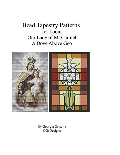 Bead Tapestry Patterns for Loom Our Lady of Mt. Carmel and A Dove Above Geo