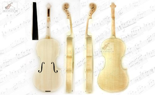 5 star Stradivari Style White Unfinished 4/4 Violin with 1 Piece Back-D Z Strad 500W