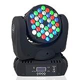 BETOPPER Luz móvil Luz de escenario Luz de escenario Cabeza móvil 36x3W RGBW LED DMX512 Luz de lavado Foco Luz de haz Luz estroboscópica DJ Escenario Disc KTV Club Bar Iluminación