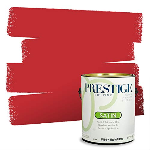 Prestige Paints Interior Paint and Primer In One, 1-Gallon, Satin, Comparable Match of Sherwin Williams* Real Red*