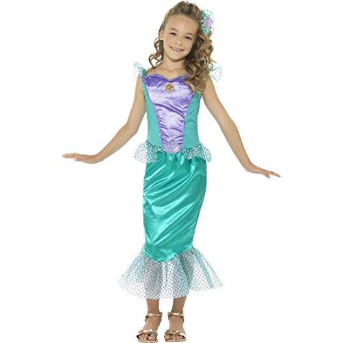 Amakando Arielle Kinderkostüm Nixe - L, 10 - 12 Jahre, 145 - 158 cm - Mädchenkostüm Mermaid Faschingskostüm Seejungfrau Karnevalskostüm Nymphe Meerjungfrauenkostüm Mädchen Meerjungfrau Kostüm Kinder