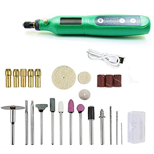 ZZABC DKGJTJGYYP Herramientas eléctricas para la alimentación de la perforación sin Cable 3.6V Grinder Accesorios de molienda Conjunto Lámpara LED de Grabado inalámbrico Ajustable de 5 velocidades