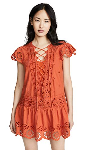 Free People Women's Esperanza Eyelet Mini Dress