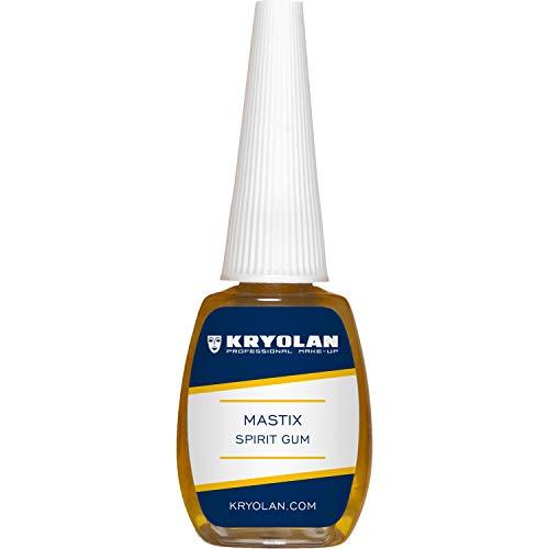 Kryolan Mastix Hautkleber, Pinselflasche 12 ml, für Haare, Bärte und Perücken - ideal für Theater, Film, Halloween, LARP & Make-up Artists