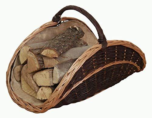 Moebel direkt online lienbacher corbeille à bûches en osier tressé (noir)