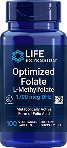 Life Extension 1000Mcg Ottimizzato Folate 100 Veg Compresse - 200 g