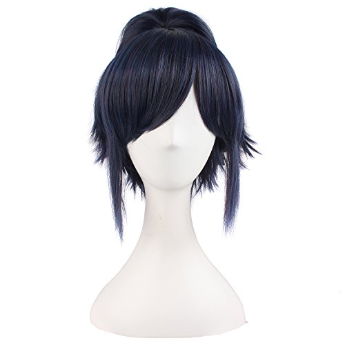 """MapofBeauty 12""""/30cm Ponytail Lovely Cosplay Hot Wig (Black Blue)"""