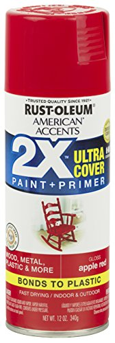 Rust-Oleum 327875 American Accents Spray Paint, 12 Oz, Gloss Apple Red