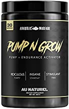 Pump-N-Grow Muscle Pump and Nitric Oxide Boosting Supplement by Anabolic Warfare * - Caffeine Free Pre Workout with L-Citrulline, L-Arginine, Beta-Alanine (Au Naturel – 30 Servings)