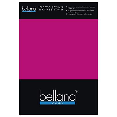 Bellana Aqua-Jersey Spannbettlaken für Wasserbetten mit 3% Elastan / 180-200 x 200-220 cm in Lavendel