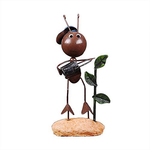 Qinlee Mini Hormigas Mariquita artesanía decoración Estatua de Ornament Desktop Metal Abalorio...