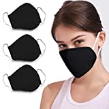 DDY Face Cover Cotton Anti Dust for Outdoor (Black)