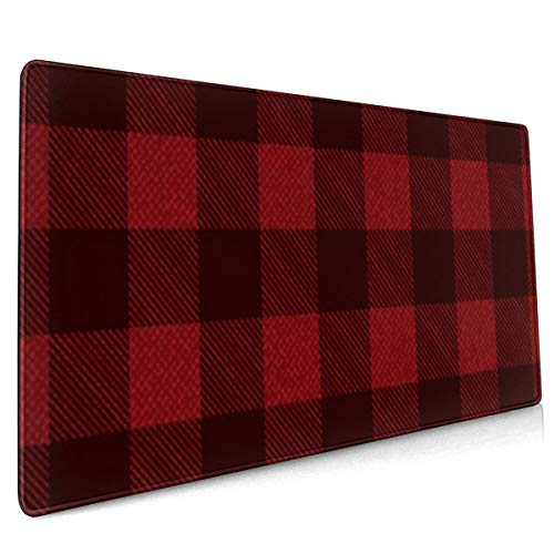 Extend Mouse Pad Textured Plaid Pattern Background 40 X 90 CM Non Slip Rubber Base Computer Mousepad For Gamer Office and Home