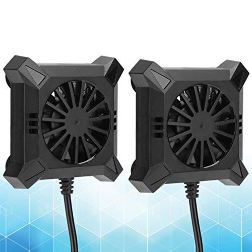 Ventilador de enfriamiento del teléfono, Tipo de Ventosa Radiador de teléfono móvil Alimentado por USB Portátil para transmisión en Vivo para Juegos para Videos