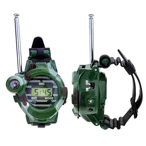 Toyvian 1 par de niños walkie Talkie Reloj de Pulsera Digital para...