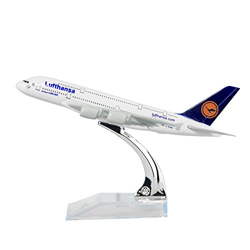 24-Hours Germany Deutsche Lufthansa AG A380 Solid Metal Alloy Model Aircraft