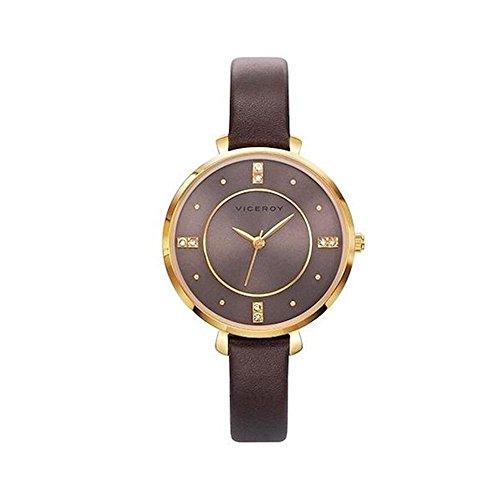 Viceroy Reloj Analogico para Mujer de Cuarzo con Correa en Cuero 471060-40