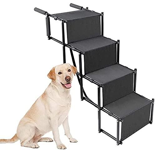 N\C XIKUO Rampa Plegable para escaleras para Mascotas, escalones para Perros medianos y Grandes, rampa para Perros portátil y Liviana con Superficie Impermeable, Ideal para automóviles, Camiones (4