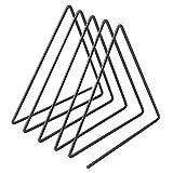 DUOER home sujetalibros Decorativo Triángulo Forma Simple Libro Soporte Soporte Escritorio Almacenamiento estantería estantería decoración (Color : Black)
