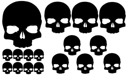 HR-WERBEDESIGN Lot de 18 Autocollants de Punisher pour Voiture OEM Shocker Biker Skull Dub étoiles