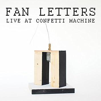 Live at Confetti Machine
