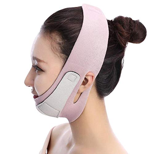 V Face Lift Up Belt Removal Belt Abnehmen Lifting Face Slimmer Bandage Wrap Anti Falten Alterung Double Chin Slimmer Facial Beauty Tool Pink