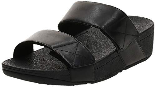 Fitflop Mina Slides, Sandales Bout Ouvert Femme, Noir (All Black 090), 39 EU