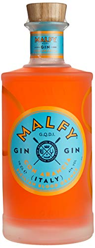 Malfy Gin con Arancia – Premium Gin aus Italien mit sizilianischen Blutorangen – Hochprozentiger Alkohol mit 41 % Vol – 1 x 0,7L