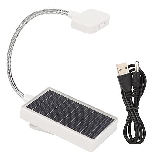Lámpara con clip, lámpara de mesa LED para ajustar la altura con el cable USB para la luz del libro de lectura de la mesa del dormitorio