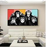 WJBKY Baby Zimmer Poster und Drucke Lustige Affen Tiere