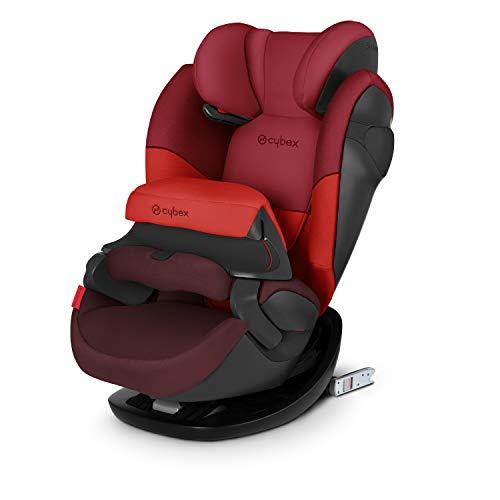CYBEX Silver 2-in-1 Kinder-Autositz Pallas M-Fix, Für Autos mit und ohne ISOFIX, Gruppe 1/2/3 (9-36 kg), Ab ca. 9 Monaten bis ca. 12 Jahren, Rumba Red