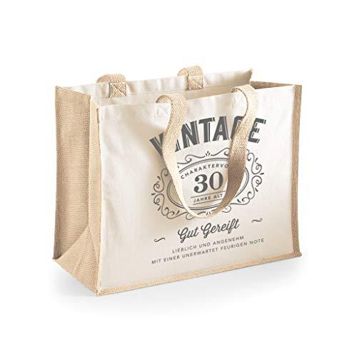 Design, Invent, Print! Damen Shopper-Tasche zum 30. Geburtstag - aus Baumwoll-Canvas - ideale Geschenkidee - Beige Farben - 33 x 42 x 19 cm (Beige)