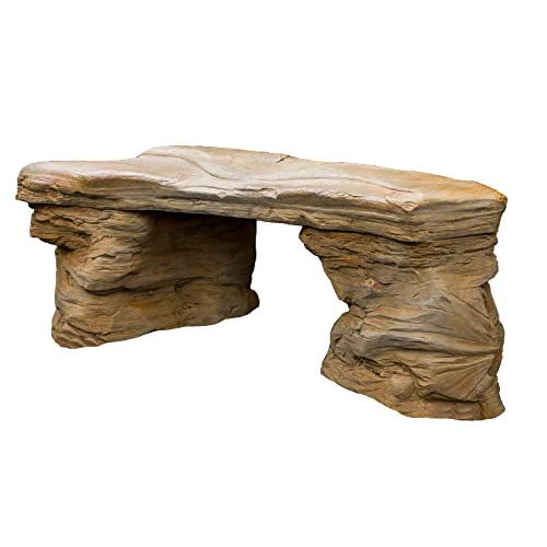 Magnificent Amazon Com Cast Stone Petrified Rock Bench Commercial Evergreenethics Interior Chair Design Evergreenethicsorg