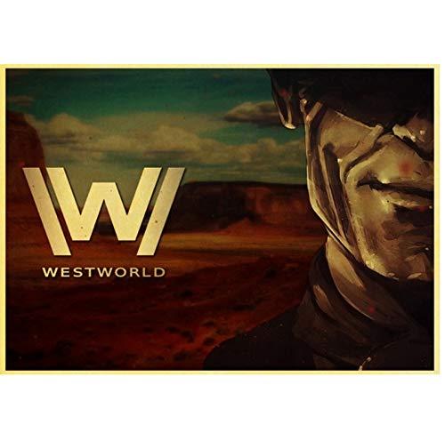 Keine Marke Westworld Temporada 2 Evan Rachel Wood James Marsden Vintage Lienzo Póster Pintura de pared Decoración del hogar 40 x 60 cm sin marco