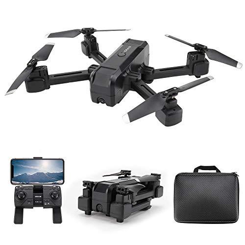 le-idea - IDEA19 Drone con Telecamera Professionale 2K HD, Pieghevole Drone GPS Trasmissione WiFi 5GHz, Fotocamera 120 °FOV, GPS Return Home, Fotografia gestuale, Follow Me, modalità Senza Testa