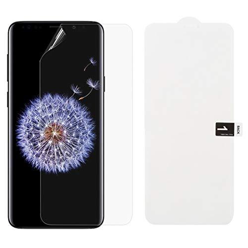 Dmtrab Phone Case para Protector Delantero de la Cubierta Completa del hidrogel Blando para Samsung Galaxy S9 Plus Tapa de Paquetes