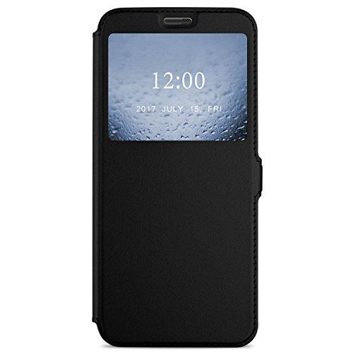 DOOGEE MIX 2 Hülle, iBetter DOOGEE MIX 2 Premium PU Leder Kasten für DOOGEE MIX 2 Smartphone (Schwarz)