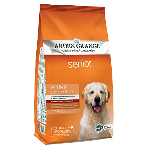 Arden Grange Senior Dry Dog Food with Fresh Chicken and Rice, 12 kg