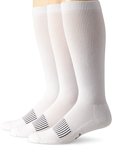Wrangler Men's Western Boot Socks (Pack of 3),White,Sock Size:Large(10-13)/Shoe Size: 9-13