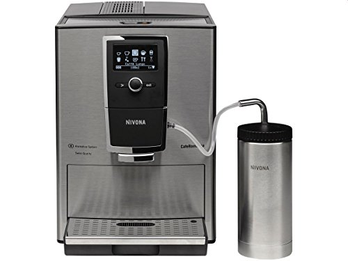 Nivona CafeRomatica 877 Standalone Espresso-Vollautomat 1,8L 2Tassen Edelstahl – Kaffeemaschine (Standalone, Espressomaschine, 1,8L, integrierte Mühle, 1465 W, Edelstahl)
