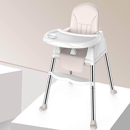 Tabouret Haut Pratique bébé PP sécurité Portable Chaise bébé Table à Manger et Chaise siège Enfants Chaise à Manger-Lightkhaki