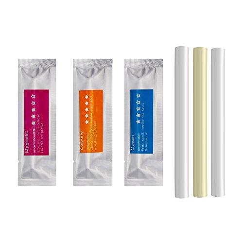She-Lin - Recambios de ambientador sólido - barras de aroma de repuesto – barras de esponja con 3 aromas (colonia, océano, magnético)