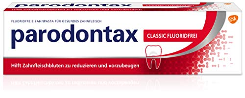 Parodontax Classic Fluorid Zahnpasta, 1x75ml, hilft Zahnfleischbluten zu reduzieren und vorzubeugen