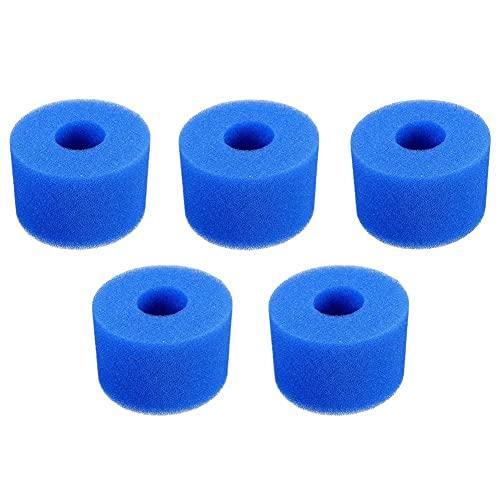 ZYCH 20pcs Esponjas de Cartucho de Filtro para Filtro Intex,Lavables,Cartucho de Repuesto,Reutilizable Lavable Cartucho de Espuma de Repuesto para Piscina Hidromasaje SPA (Size : 7.4cm)