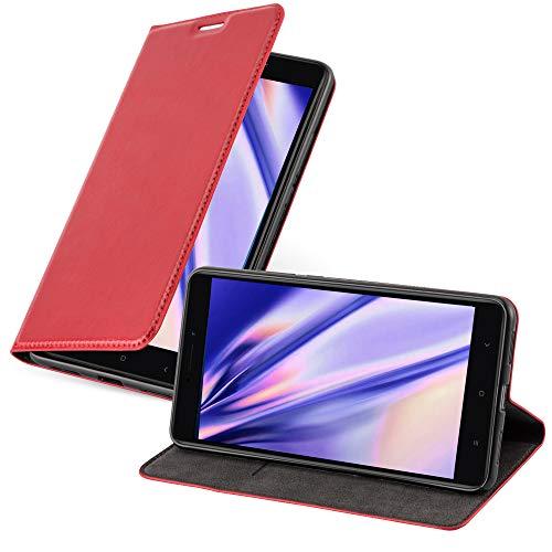 Cadorabo Funda Libro para Xiaomi Mi MAX 2 en Rojo Manzana – Cubierta Proteccíon con Cierre Magnético, Tarjetero y Función de Suporte – Etui Case Cover Carcasa