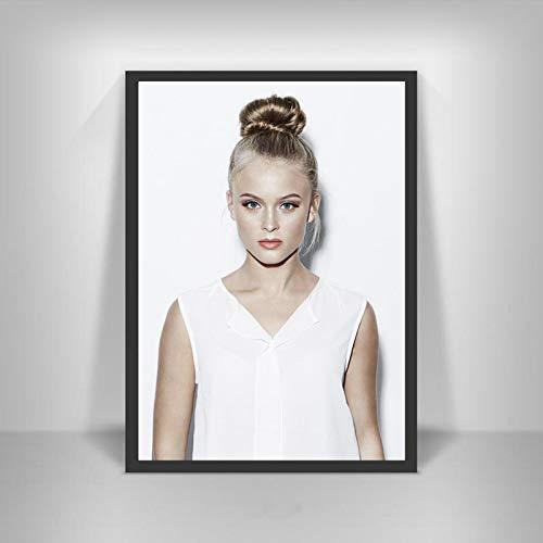 YF'PrintArt Leinwanddrucke Zara Larsson Poster Schwedische Musiksängerin Star Wall Art Picture Poster Und Drucke Für Room Home Decor Leinwandbild Rahmenlos 50X70Cm -A663