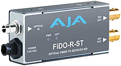 AJA FiDO-R-ST Single Channel ST Fiber to SDI Mini Converter (FiDO-R-ST)